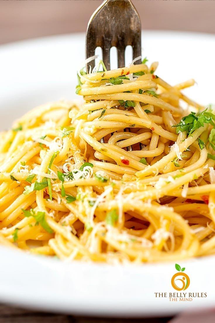 Spaghetti aglio - e -olio / Instant pot Aglio -e - olio