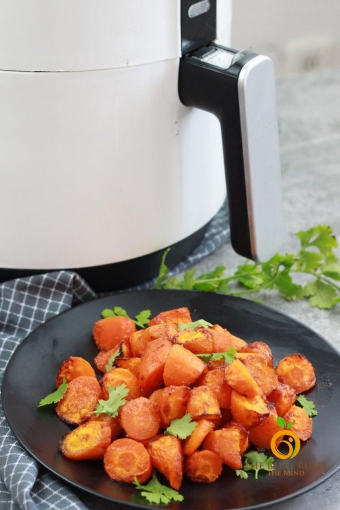 air fryer carrots roasted