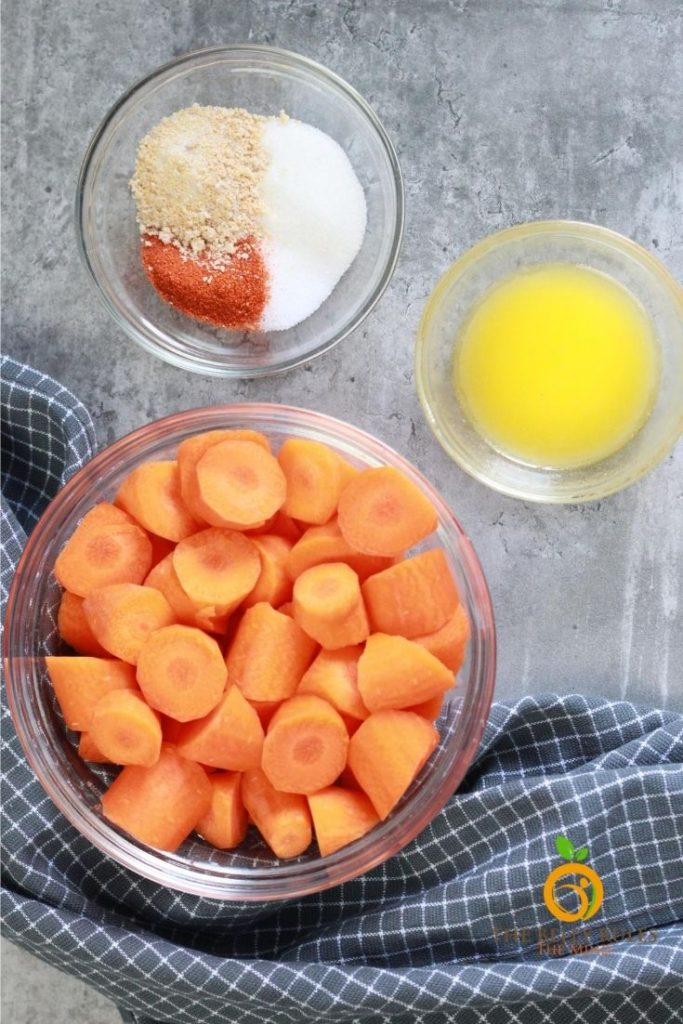 ingredients for roasted air fryer carrots