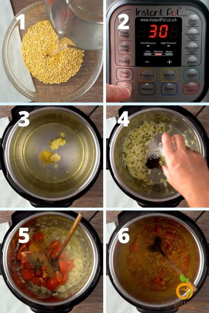 instant pot dal tadka step by step recipe