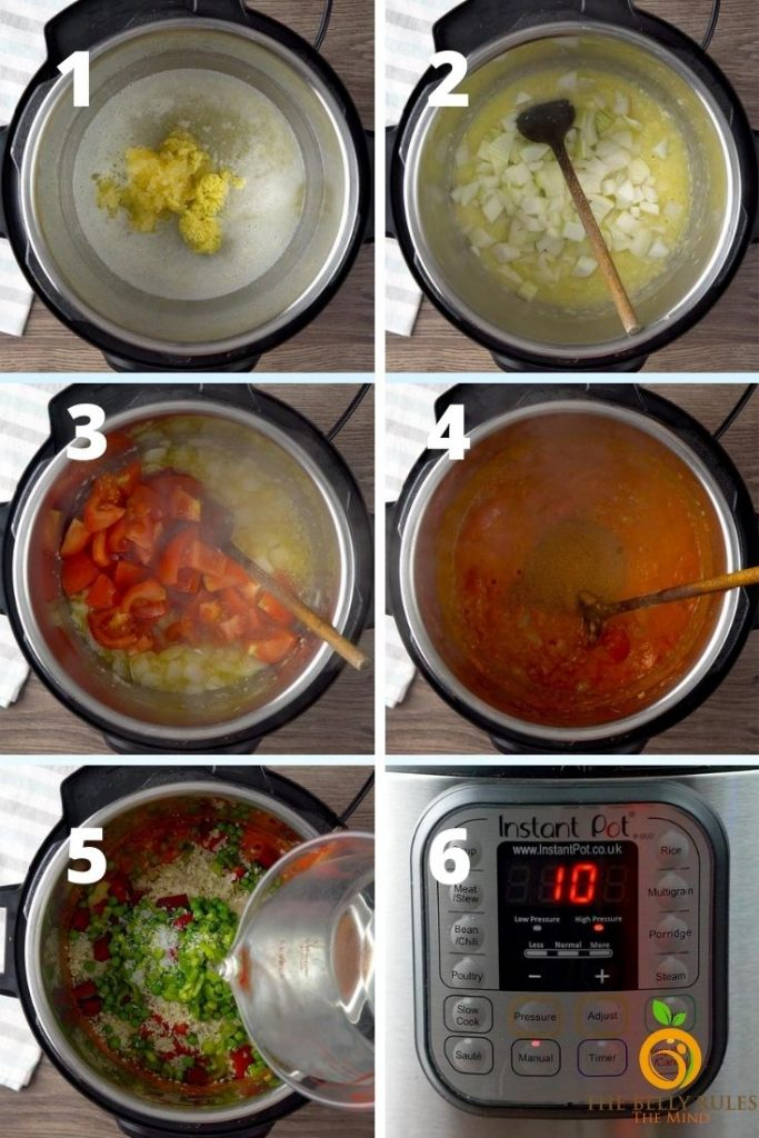 how to make pav bhaji in instant pot