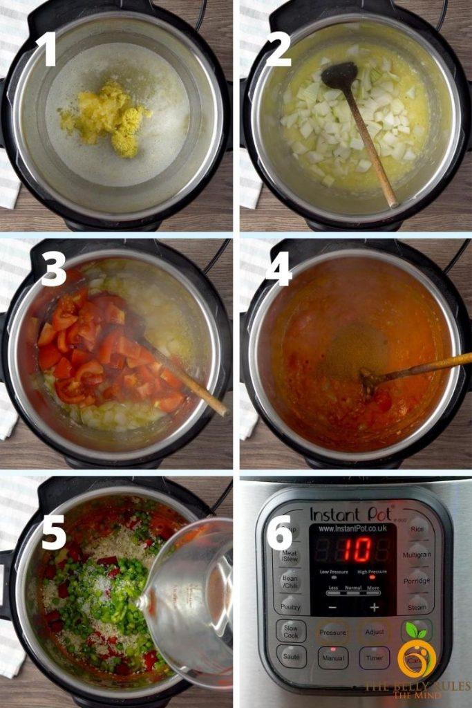 how to make pav bhaji in instant pot