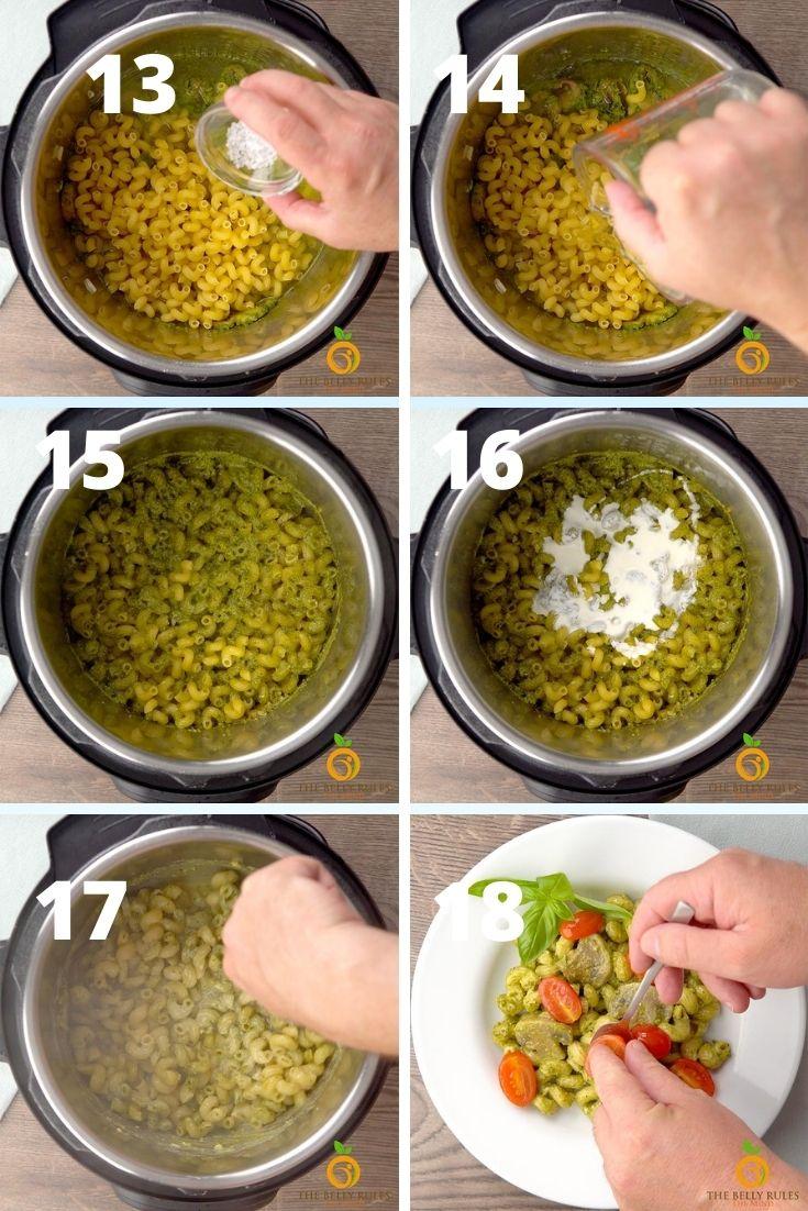 Pesto cavatappi step by step