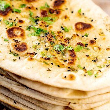 garlic naan bread recipe
