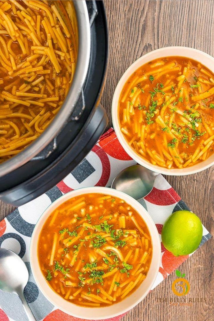 Sopa de fideo - Mexican noodle soup