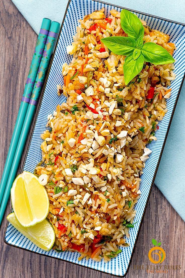 Vegan Thai Basil Fried Rice