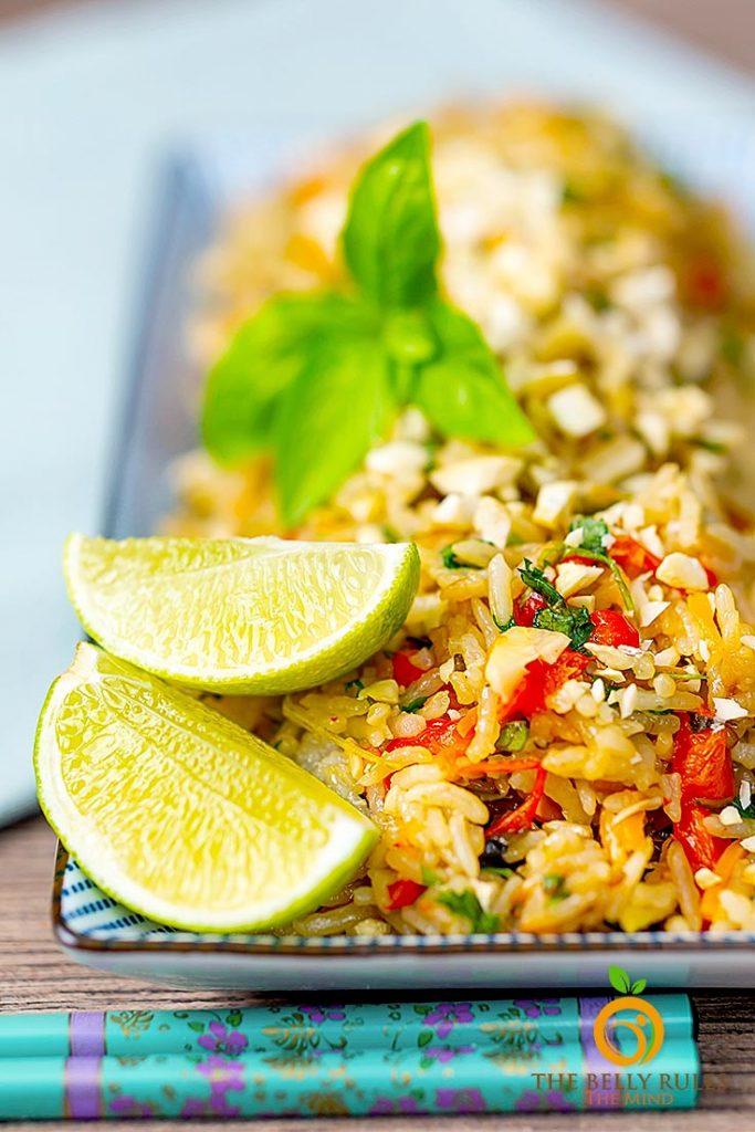 vegan Thai Basil Fried Rice Recipe
