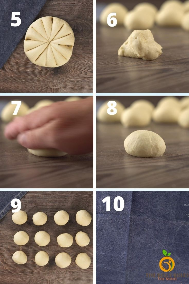 make balls and rest the dough