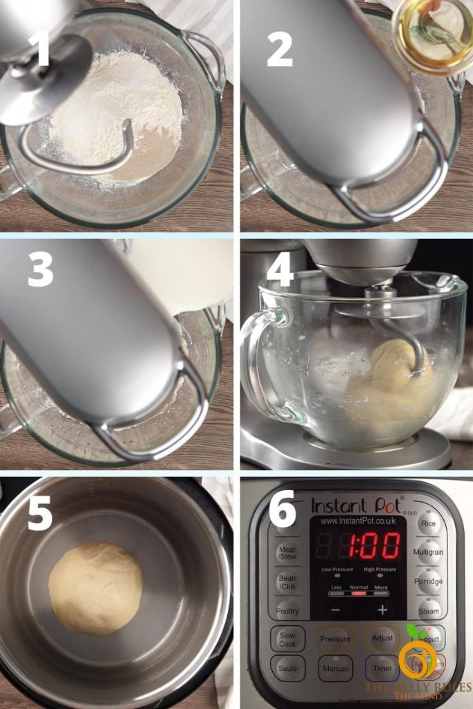 step by step instructions to make garlic naan