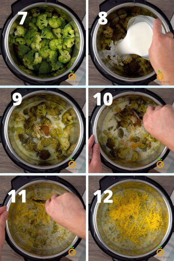 instant pot broccoli cheese soup recipe step by step instructions