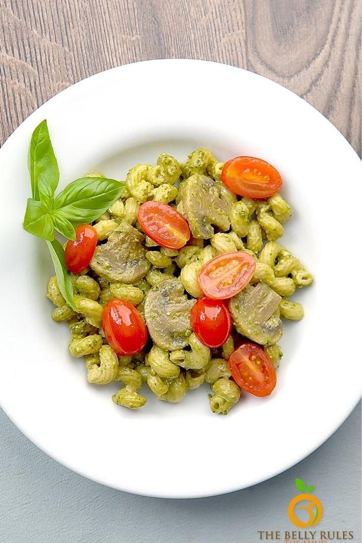 instant pot Pesto Cavatappi
