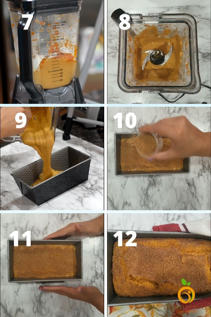 vegan pumpkin bread step by step