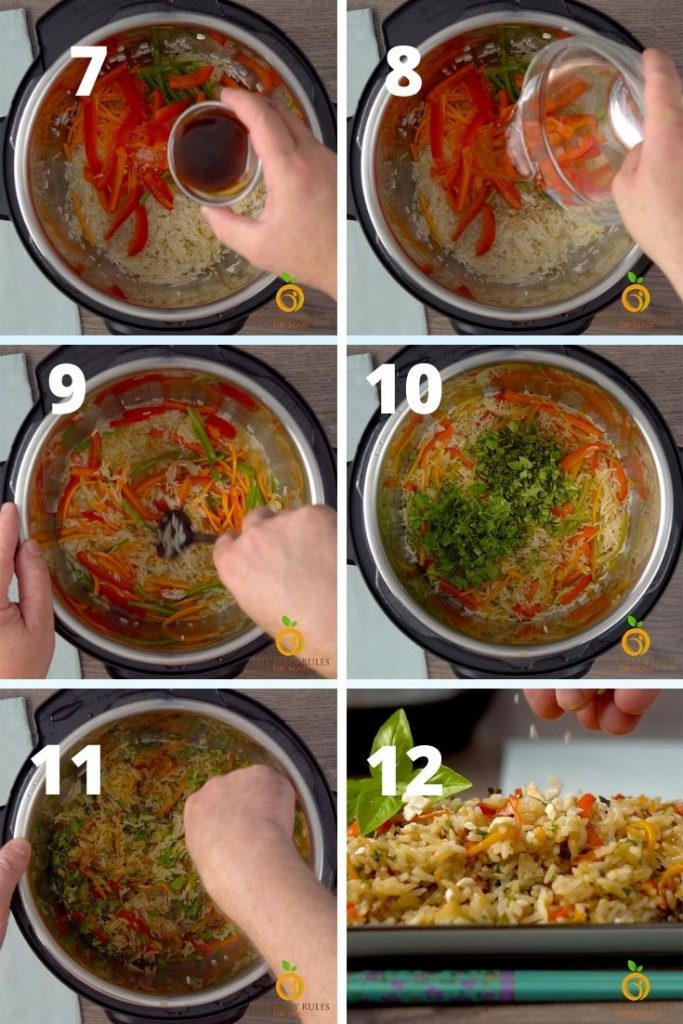 thai basil fried rice step by step instructions
