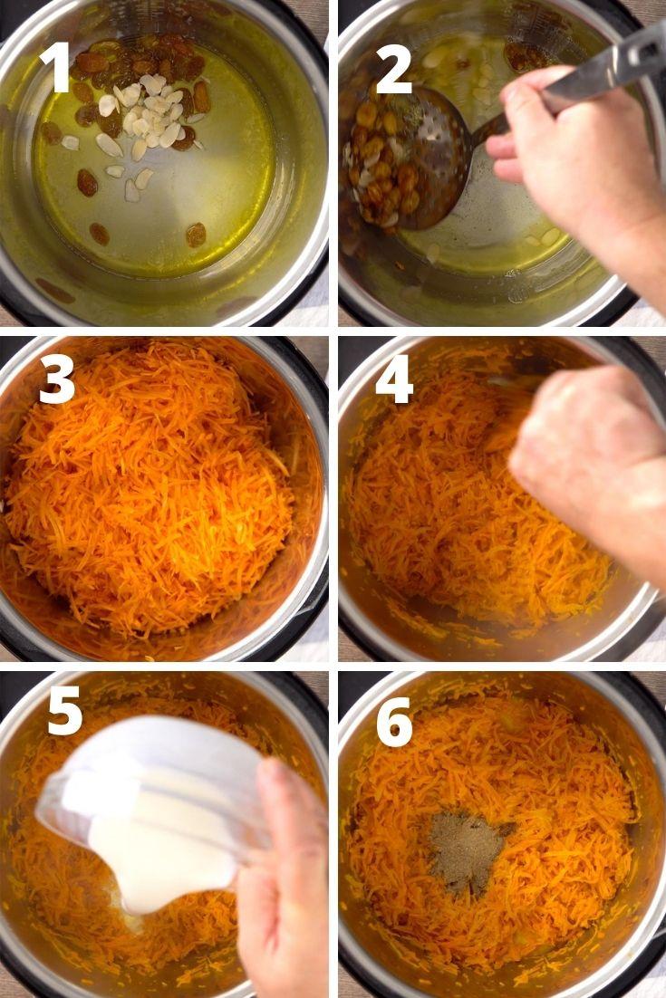 gajar ka halwa step by step instructions
