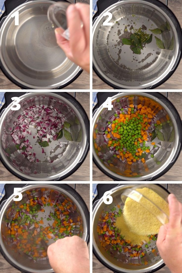 upma step by step instructions