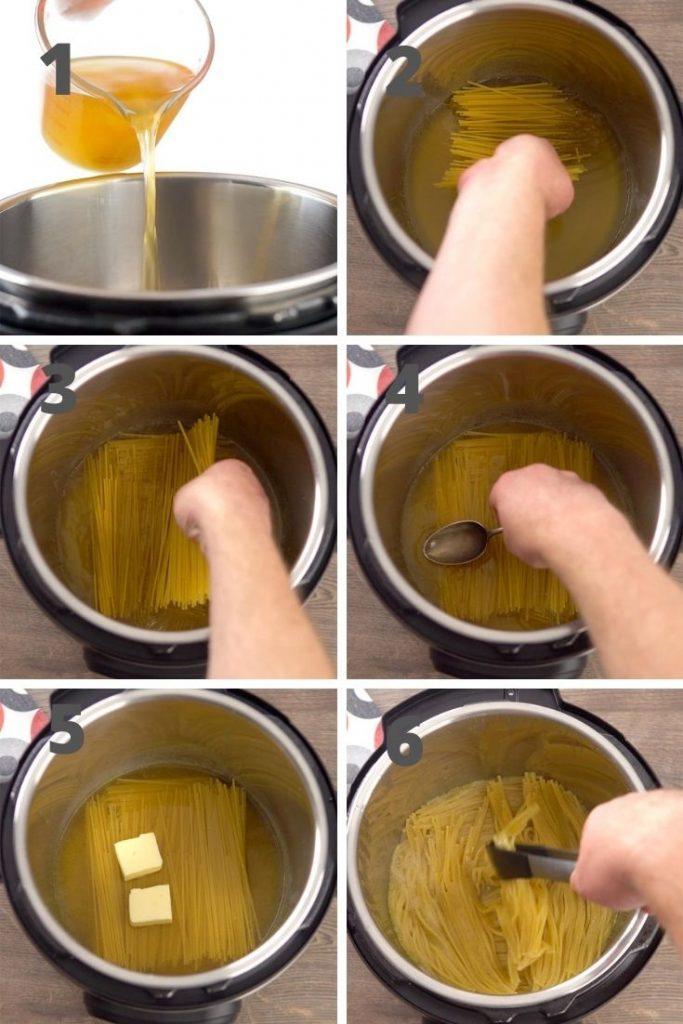 Cacio e pepe step by step instructions