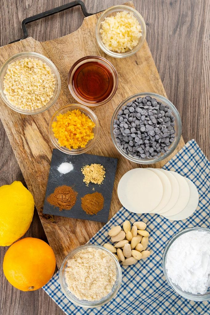 Ingredients for German Christmas Cookies