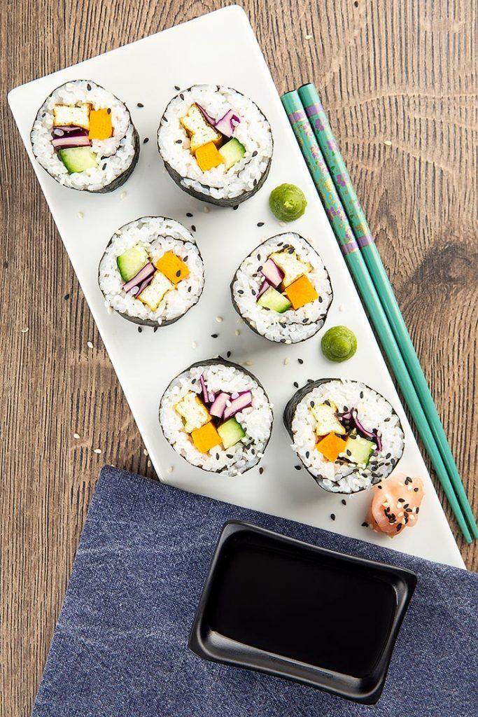 homemade vegan sushi