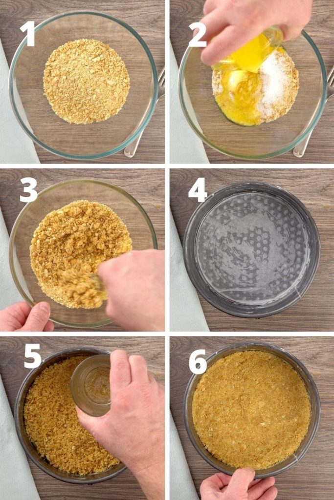 Sopapilla cheesecake crust step by step instructions