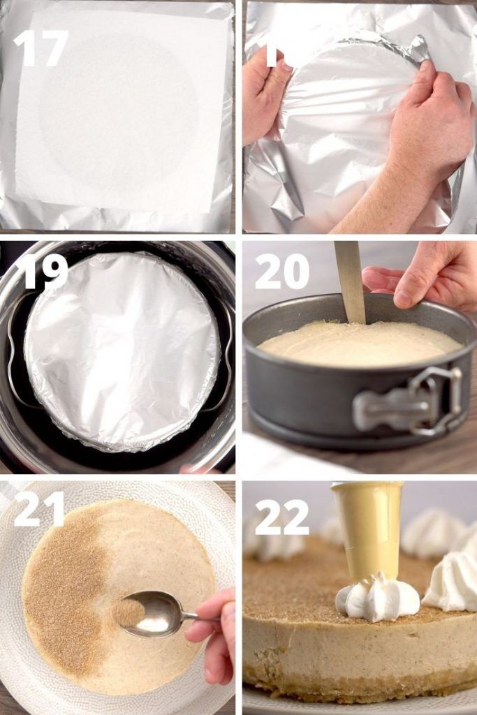 Sopapilla cheesecake step by step instructions