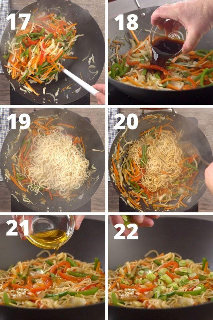 vegetable hakka noodles step by step instructions