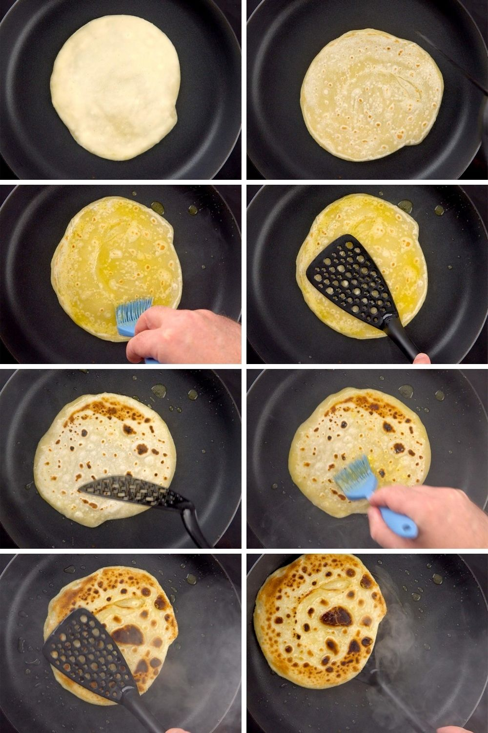 cooking the paratha
