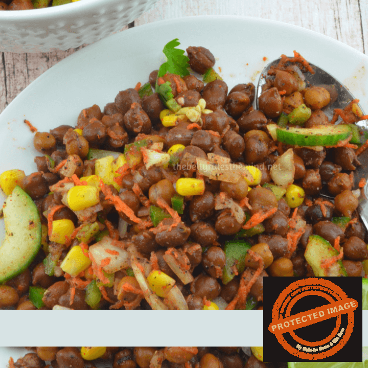 Brown Chickpea Chaat