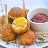 Egg Pakoda / Egg Fritters made in Appe pan
