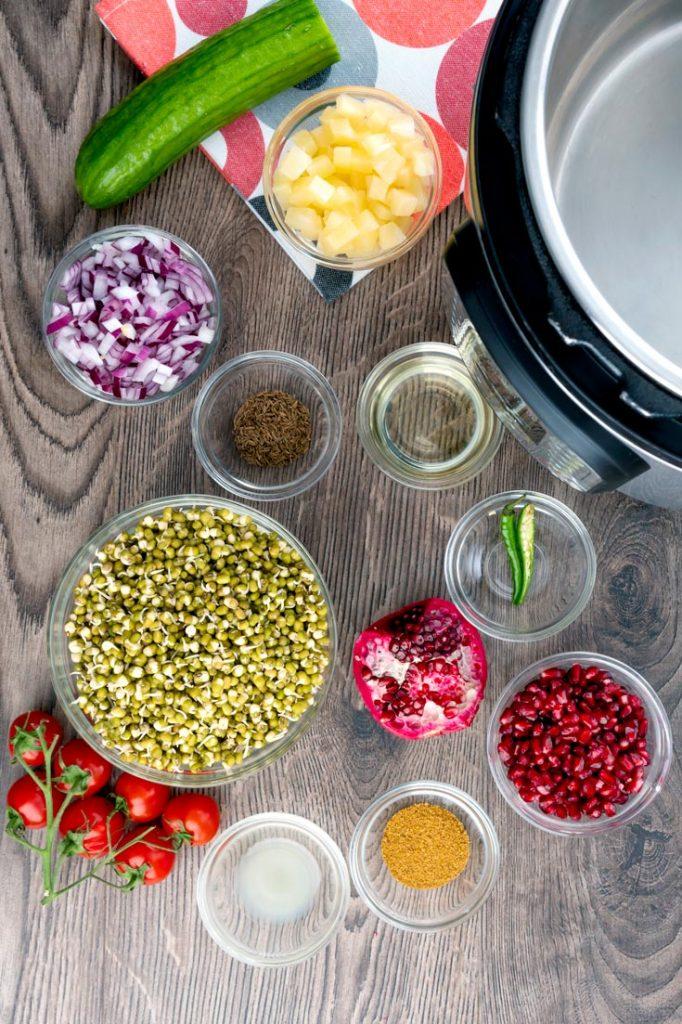 ingredients to make mung bean sprouts stir fry