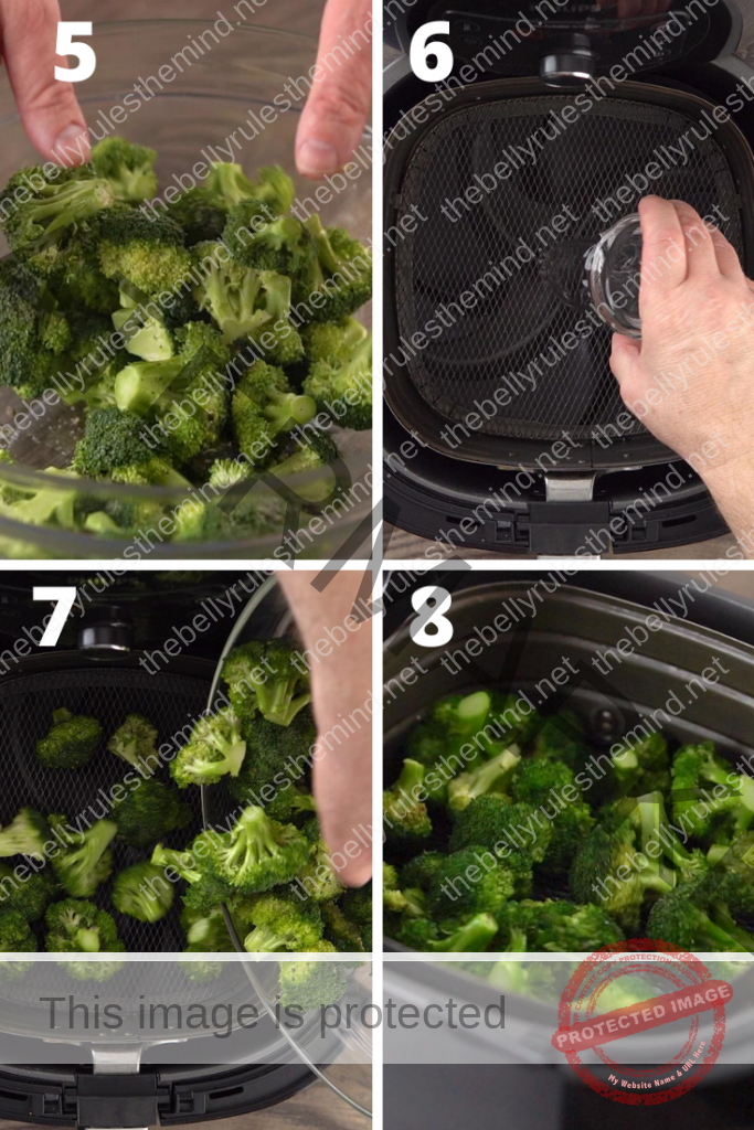 broccoli in air fryer step by step instructions
