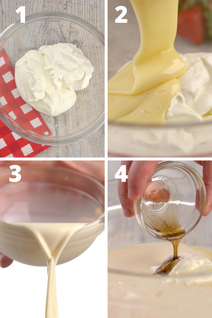 mexican strawberries and cream instructions