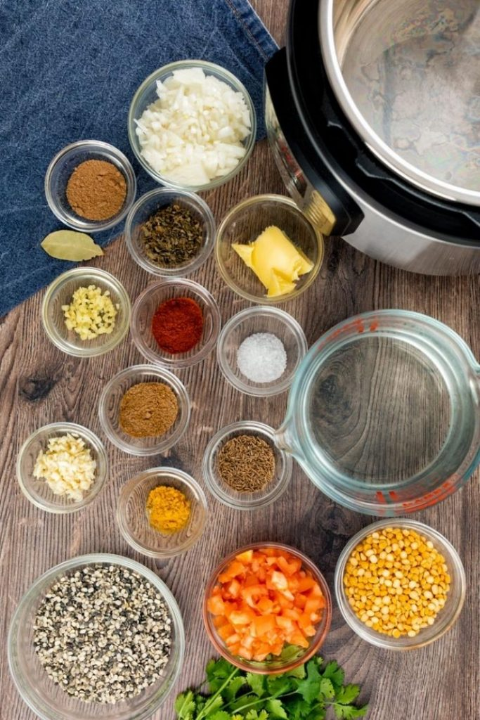 spicy urad dal- black lentil