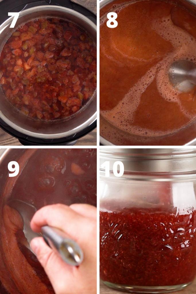 how to make strawberry rhubarb jam recipe