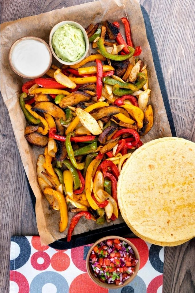 veggie fajitas, how to make vegetable fajitas