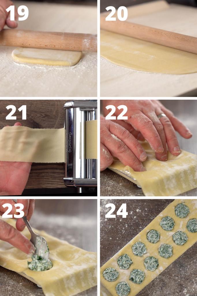 Rolling and Filling Ravioli Dough