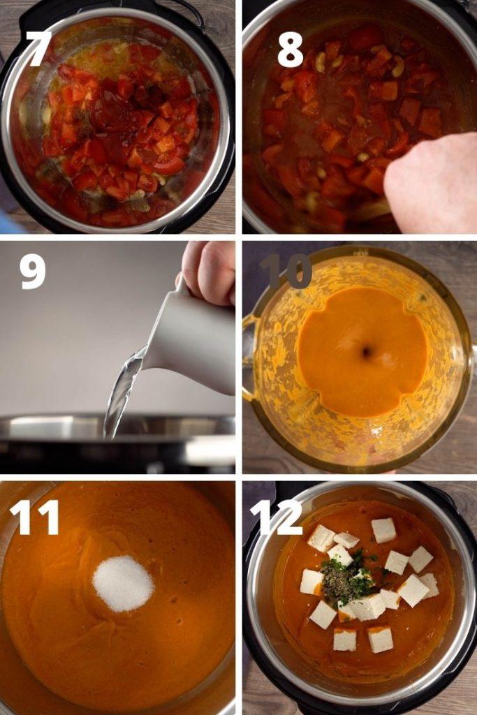 Restaurant Style Butter Paneer Paneer Makhani instructions
