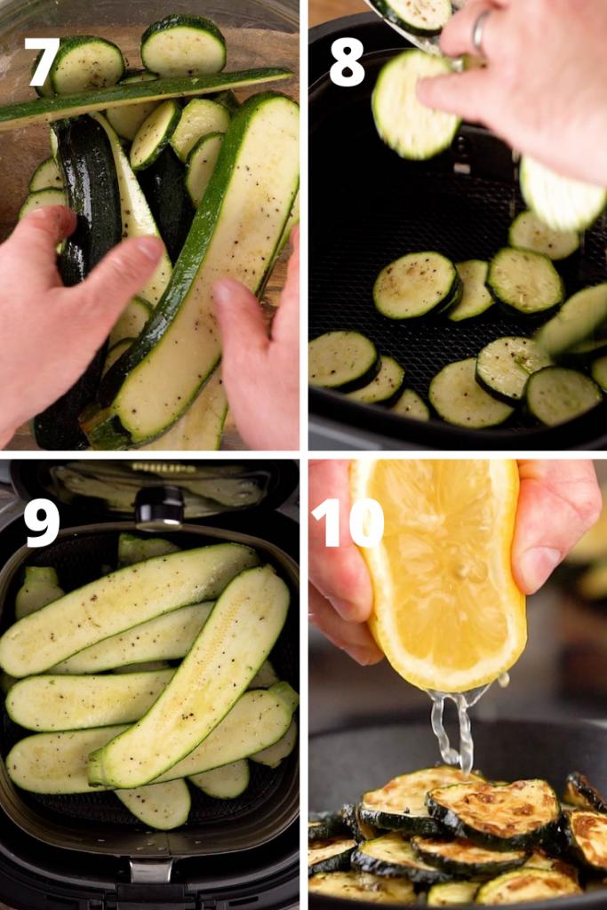 Air Fryer Zucchini Instructions