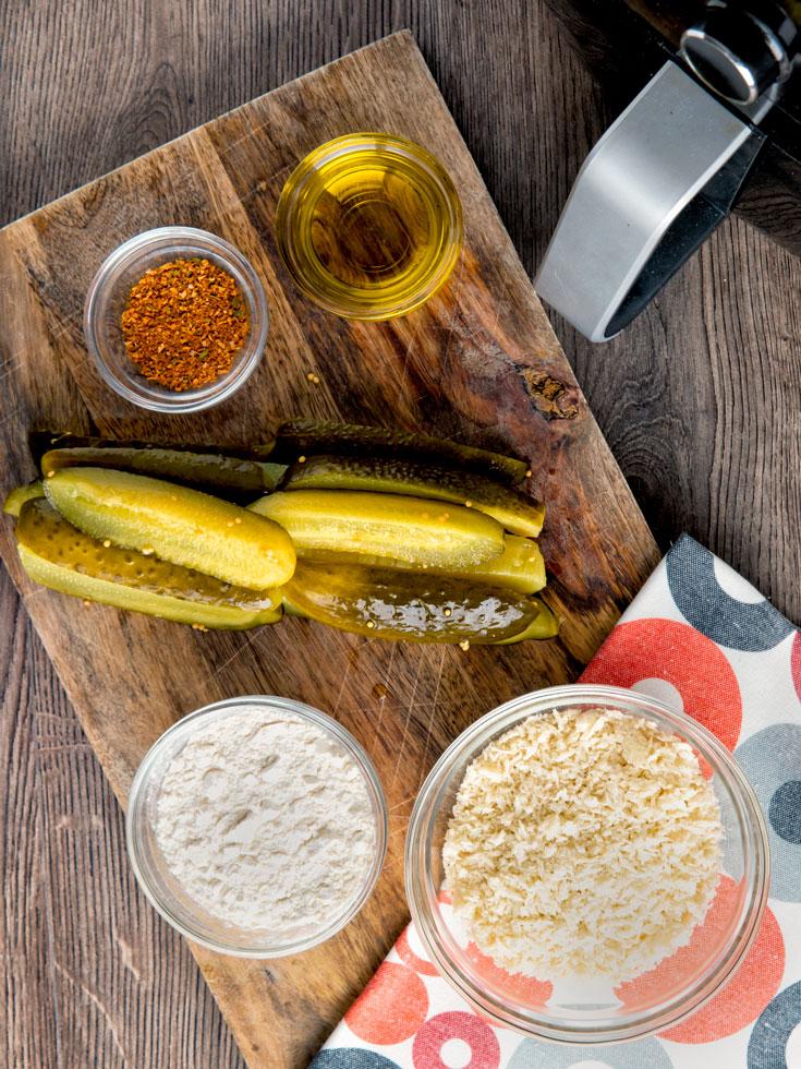 ingredients to make pickles in air fryer