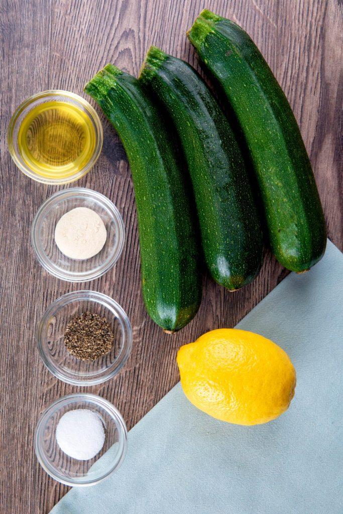 Air Fryer Zucchini Ingredients