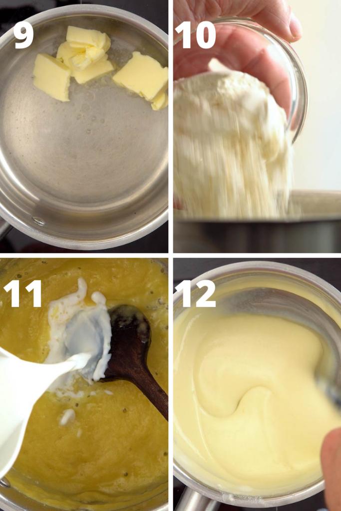step by step instructions to make potato soup